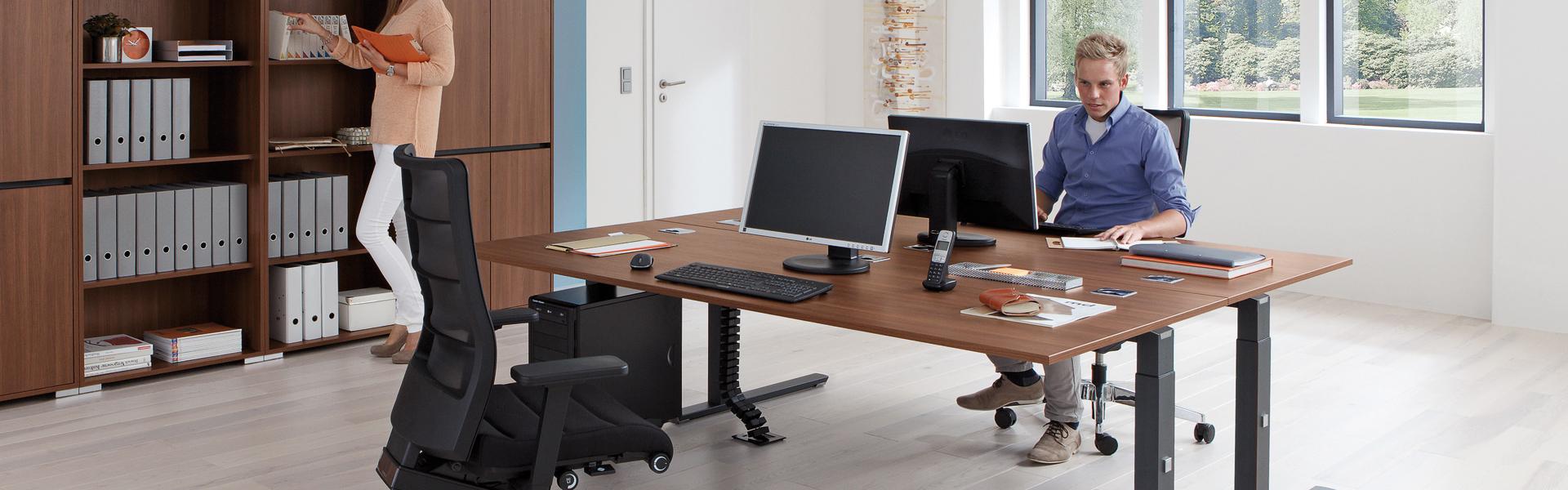 Home slider zit-sta bureau