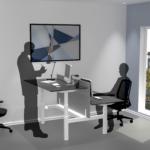 Cube Design Raw Bench zit-sta bureau