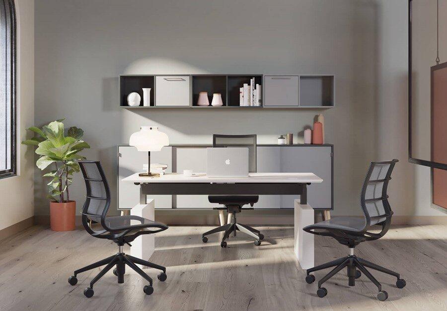 Dencon Box Panel Desk zit-sta bureau