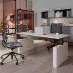Dencon Box Panel Desk zit-sta bureau