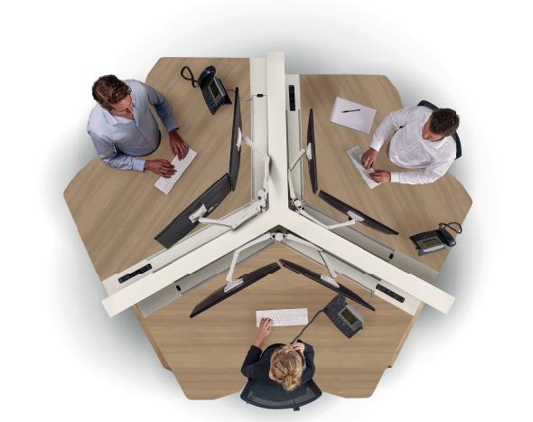 Markant Hybrid Wing zit-sta werkplek zit-sta bureau