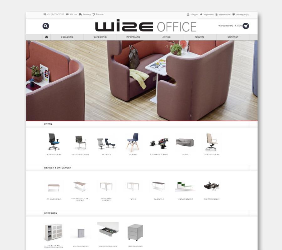 Onze webshops Wize Office zitstameubilair
